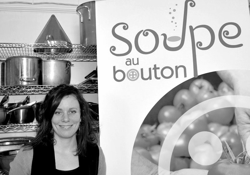 Émélie Lapierre des cuisines collectives La Soupe au bouton