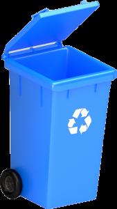 bac bleu de matières recyclables