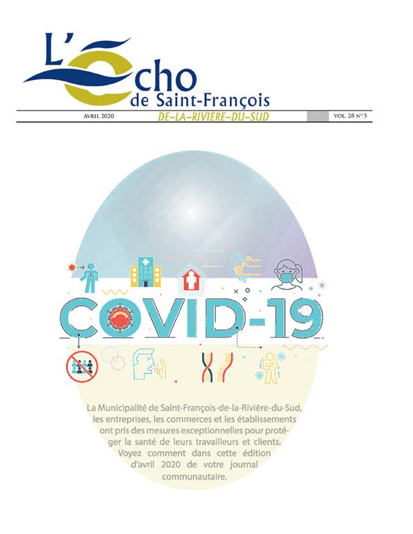 L'édition de Avril 2020 de L'Écho de Saint-François, l'information locale sur la pandémie