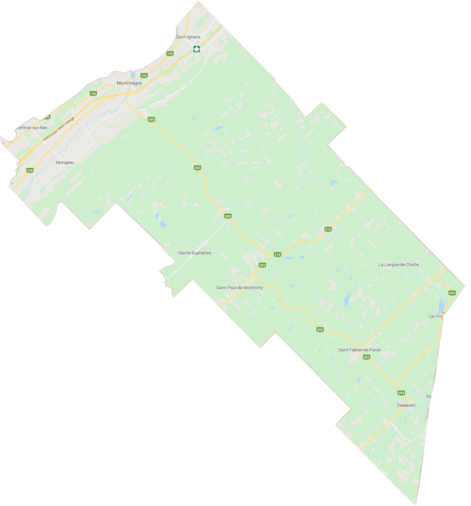 carte de la MRC de Montmagny